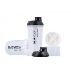 Šejkr Survival transparentní se zásobníky (600 ml)